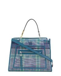 blaue Shopper Tasche aus Leder von Fendi