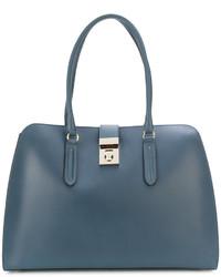 blaue Shopper Tasche aus Leder von Furla