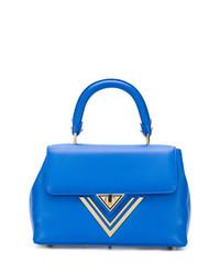 blaue Shopper Tasche aus Leder von Giaquinto
