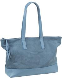 blaue Shopper Tasche aus Leder von Jost