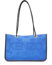 blaue Shopper Tasche aus Leder von Kenzo