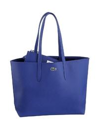 blaue Shopper Tasche aus Leder von Lacoste