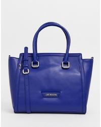 blaue Shopper Tasche aus Leder von Love Moschino