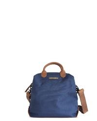 blaue Shopper Tasche aus Leder von Margelisch