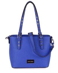 blaue Shopper Tasche aus Leder von MERCH MASHIAH