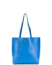 blaue Shopper Tasche aus Leder von Prada
