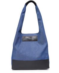blaue Shopper Tasche aus Leder von Rag & Bone