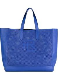 blaue Shopper Tasche aus Leder von Ralph Lauren