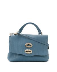 blaue Shopper Tasche aus Leder von Zanellato