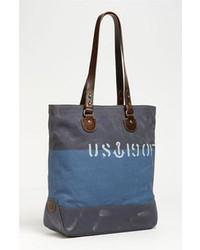 blaue Shopper Tasche aus Segeltuch