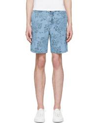 blaue Shorts mit Blumenmuster von Closed