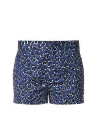 blaue Shorts mit Leopardenmuster von Barbara Bui