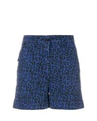 blaue Shorts mit Leopardenmuster von Tomas Maier