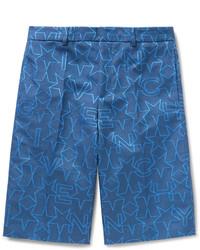 blaue Shorts mit Sternenmuster von Givenchy
