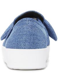 blaue Slip-On Sneakers aus Jeans von Rebecca Minkoff