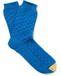 blaue Socken