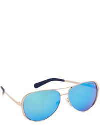 blaue Sonnenbrille von Michael Kors