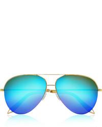 blaue Sonnenbrille von Victoria Beckham