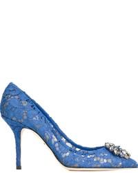 blaue Spitze Pumps von Dolce & Gabbana