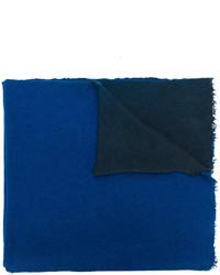 blaue Stola mit Reliefmuster von Faliero Sarti