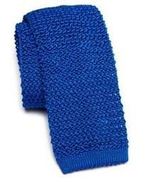 blaue Strick Krawatte