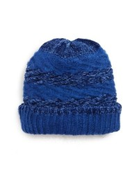 blaue Strick Mütze