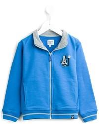 blaue Strickjacke von Armani Junior