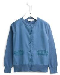 blaue Strickjacke von Stella McCartney