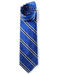blaue vertikal gestreifte Krawatte von Polo Ralph Lauren