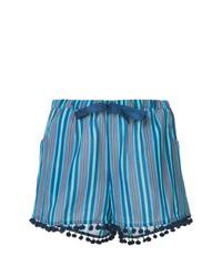 blaue vertikal gestreifte Shorts von Figue