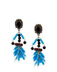 blaue verziert mit Perlen Ohrringe von Marni