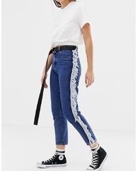 blaue verzierte enge Jeans von Glamorous