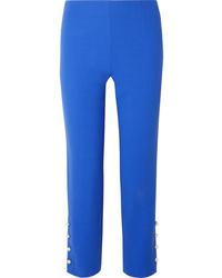 blaue verzierte Wollanzughose von Lela Rose
