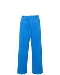 blaue weite Hose aus Cord
