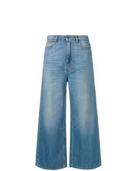 blaue weite Hose aus Jeans