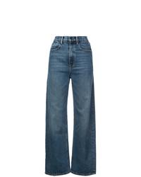 blaue weite Hose aus Jeans von Alexander Wang