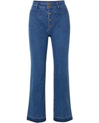 blaue weite Hose aus Jeans von Apiece Apart