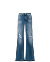 blaue weite Hose aus Jeans von Dondup