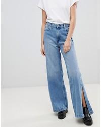 blaue weite Hose aus Jeans von Dr. Denim