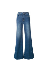 blaue weite Hose aus Jeans von Frame Denim
