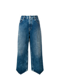 blaue weite Hose aus Jeans von MM6 MAISON MARGIELA