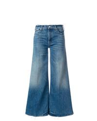 blaue weite Hose aus Jeans von Mother