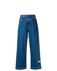 blaue weite Hose aus Jeans von MSGM