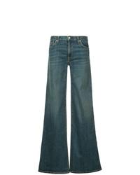 blaue weite Hose aus Jeans von Nili Lotan