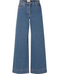 blaue weite Hose aus Jeans von The Row