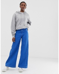 blaue weite Hose aus Jeans von Weekday