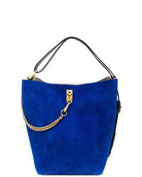 blaue Wildleder Beuteltasche von Givenchy