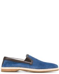 blaue Wildleder Espadrilles von Dolce & Gabbana