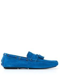 blaue Wildleder Mokassins von Brioni