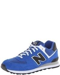 blaue Wildleder niedrige Sneakers